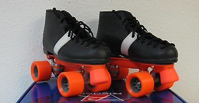 NEW Riedell 124 Speed Skates Roller Derby Demon wheels Leather size 6, womens 7