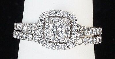14k White Gold Neil Lane Wedding Engagement Ring 1 CTW