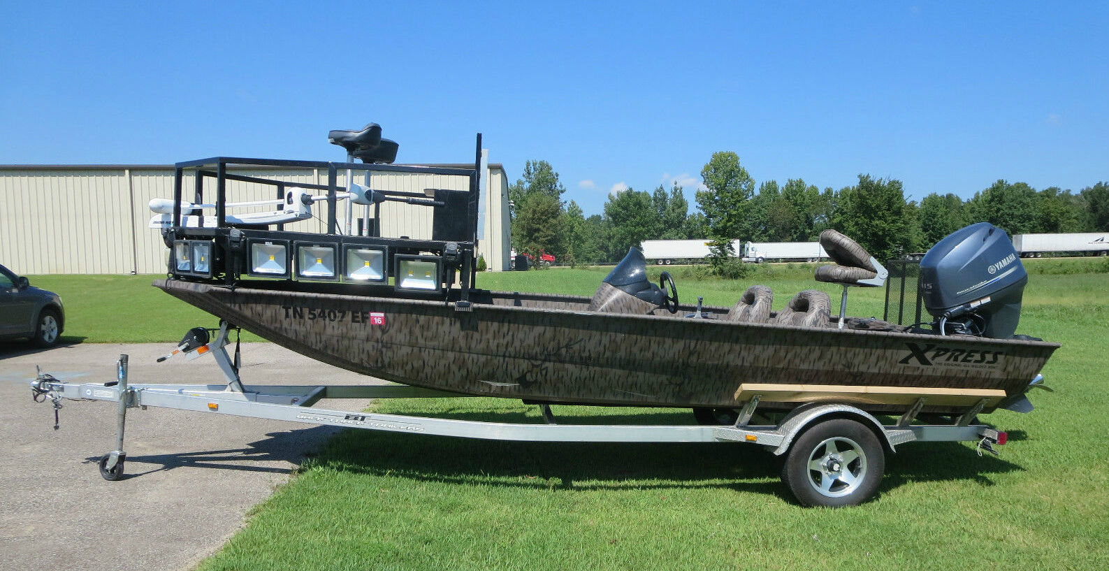 How to build a bowfishing boat ebay for Bow fishing platform