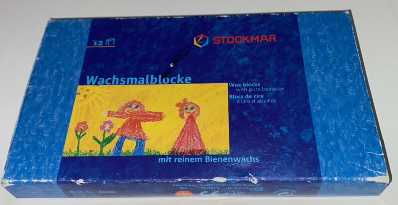 Stockmar Beeswax Block Crayons 12 pcs