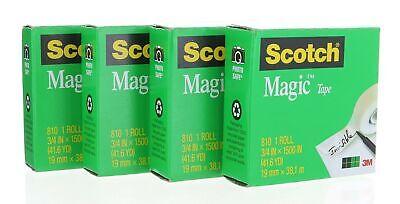 Scotch Magic Tape 810 Refill 34 In X 1500 In 4 Rolls