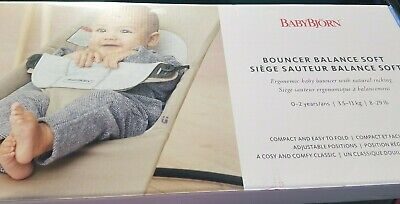 BabyBjorn Baby Bouncer Silver/White Color Brand New