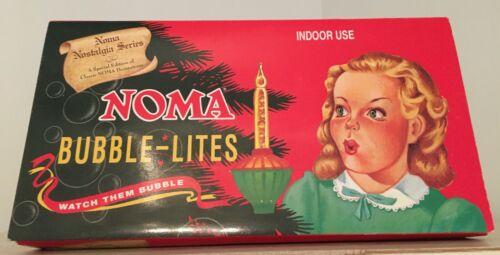 Noma Christmas Bubble Lights Nostalgia Series String of 7 Lites  w/Box