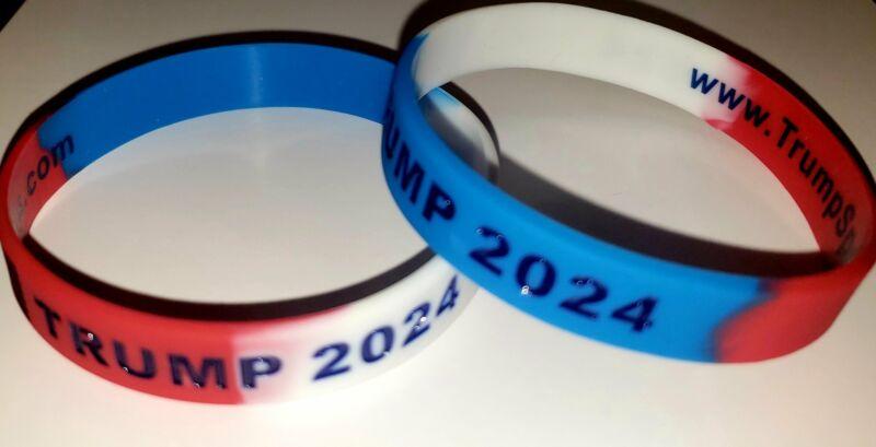 Trump 2024 Red, White, & Blue Bracelet - Blow a Liberal