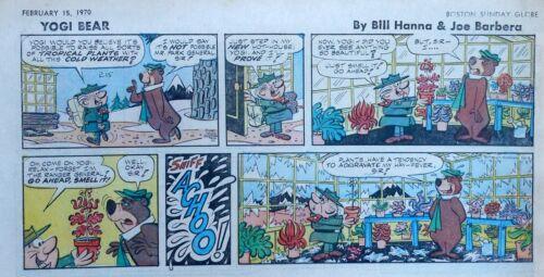 Yogi Bear by Eisenberg - Hanna-Barbera - color Sunday comic page - Feb. 15, 1970