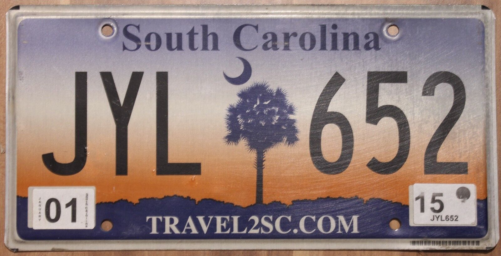 Original Nummernschild License Plate USA South Carolina PALMTREE Plaque Targa