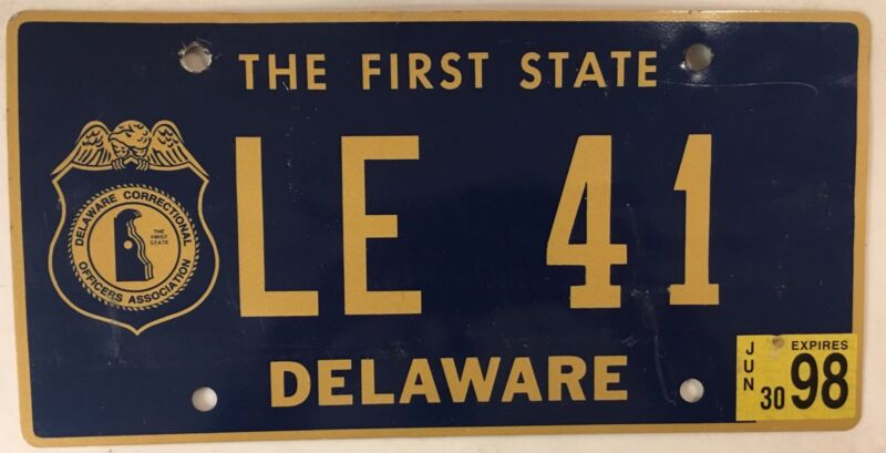 STATE POLICE CORRECTIONAL OFFICER license plate Government Prisoner Jail LE 41