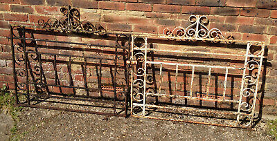 OLD WROUGHT IRON DRIVEWAY GATES - SET 2 OF 3