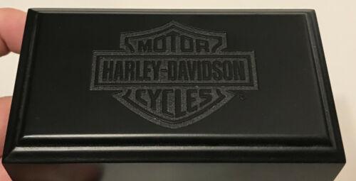 Harley Davidson Motorcycle Ring Case Wooden Very Nice