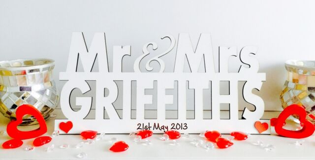 Personalised Mr and Mrs Sign Wedding Top Table Decoration ...
