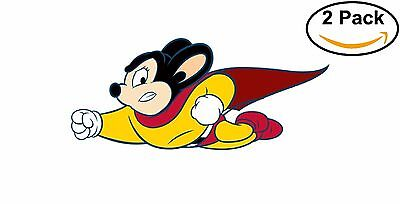 Mighty Mouse Vinyl Decal Sticker Comic Superhero 2 stickers