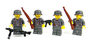 custom German WW2 wehrmacht soldiers complete squad made with real LEGO(R)