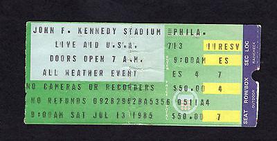 1985 Original Live Aid Concert Ticket Stub Philadelphia Dylan Madonna Jagger