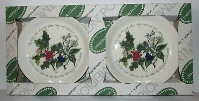 Portmeirion The Holly and The Ivy 2 Piece SWEET DISH Boxed Candy