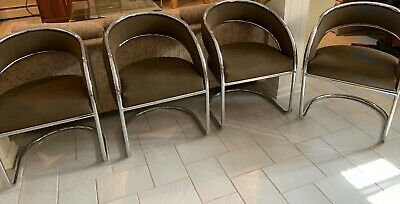 Metal And Brown Office Waiting Room Chairs - Used - 6 Available