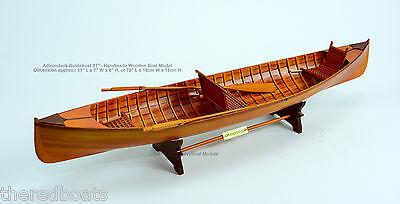 "Adirondack Guideboat 31"" - Wooden Handmade Boat Model NEW"