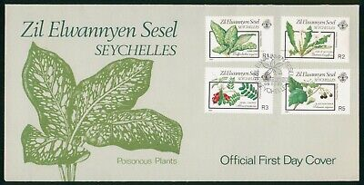 Mayfairstamps Seychelles FDC 1989 Poisoinus Plants Combo First Day Cover wwo_584