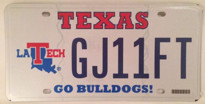 LOUISIANA TECH UNIVERSITY BULLDOGS license plate Ruston LTU La. Lady Techsters