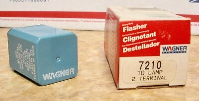 Heavy Duty Electronic Flasher (Wagner NOS Heavy Duty Electronic Flasher 12 Volt 10 Lamp 2 Terminal #)