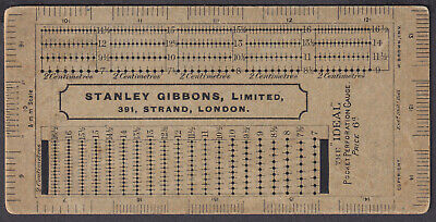 """Stanley Gibbons Vintage """"IDEAL"""" Pocket Perforation Guage; Advertising; unusual"""