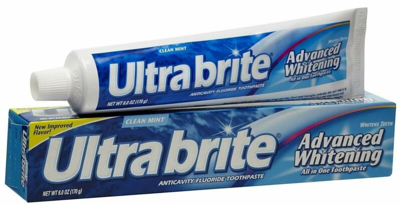 UltraBrite Anti-cavity Fluoride Toothpaste Whitening Clean Mint, 6 oz, 12 Pack