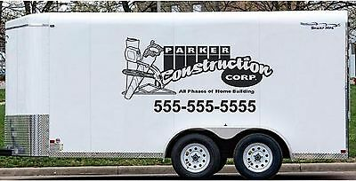 Construction Building Business Lettering Van Trailer Truck Vinyl Stickers