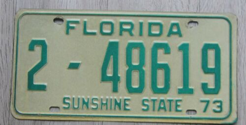 1973 Florida License Plate Duval County Tag 2-48619