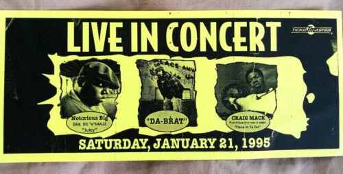 Rare Vintage Notorious BIG Concert Flyer Miami 1995 w/ Craig Mack & Da Brat