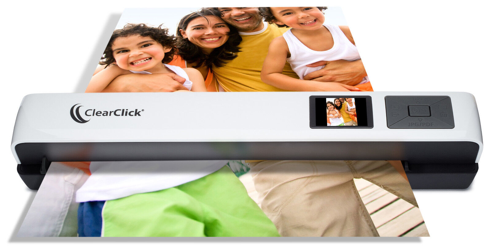ClearClick Portable Photo & Document Color Scanner with Feed