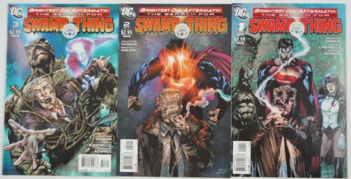 Brightest Day Aftermath: the Search for Swamp Thing #1-3 VF/NM complete series