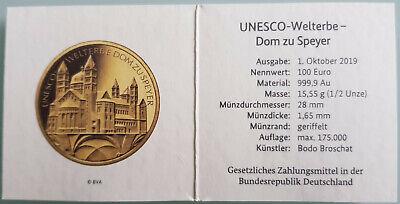 """Usado, Mds Certificado de Autenticidad para Monedas Oro Alemania 2019"""" Catedral Speyer"""" segunda mano  Embacar hacia Mexico"""