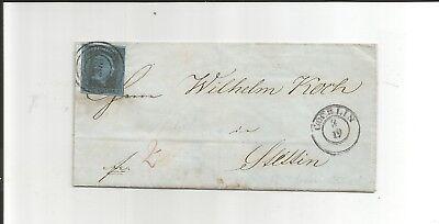 Pr. - Nr.-o / 263 ideal auf breitrand 3 + K2 COERLIN + rot Tax. 2 a. Luxus-Brief