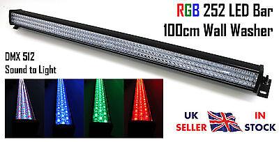 25W 252xRGB LEDs Wall Washer 100cm Batten Bar DMX Stage Effect Disco DJ Club