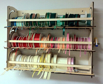 Ribbon Holder Storage Rack Organizer  110+ spools, Stackable, Desk/Wall Mount