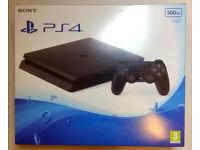 Sony PlayStation 4 500 GB Jet Black Console NEW SEALED + 2 Games FIFA 14, NBA 2K15