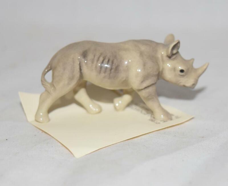 Hagen Renaker Rhino Figurine On Card
