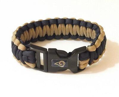 ST LOUIS RAMS SURVIVOR BRACELET 22825-1 football survival sports jewelry