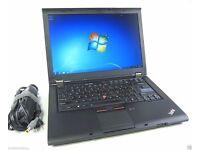 CHEAP FAST Lenovo ThinkPad t410 i5- 2.5Ghz 8GB 500GB hdd Win 7 Laptop Webcam