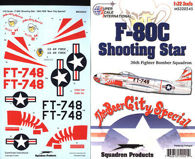 F-80 C Shooting Star: 36th FBS Korea (1/32 decals, Superscale 320245) for sale  Poughkeepsie