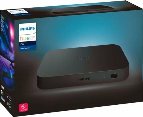 Philips - Hue Play HDMI Sync Box - Black (555227) TV Light Sync System - VG