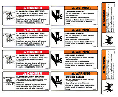 Jlg 2902522 Scissor Lift Decal Kit - Aerial Safety Decal Kit 1930es