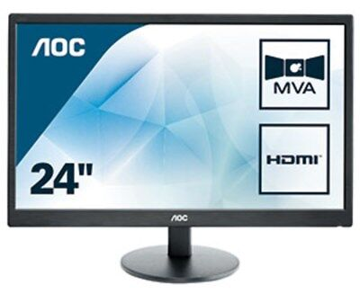 AOC M2470SWH 23.6 inch LED Monitor - Full HD 1080p, 5ms Response, Speakers, HDMI for sale  Shipping to Ireland