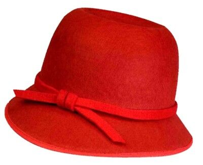 Red Cloche Flapper Hat Women Costume Accessory Roaring Twenties the Great Gatsby - The Great Gatsby Hats
