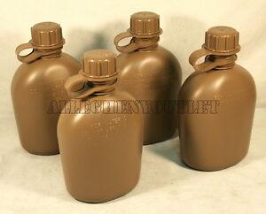 4-Genuine-US-Army-Military-1-Quart-QT-Plastic-CANTEEN-Coyote-Tan-BPA-FREE-NEW