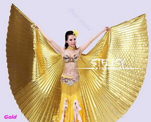 Egyptian Egypt Belly Dance Dancing Costume Isis Wings Dance Wear Wing  OK