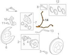 For Toyota Genuine ABS Wheel Speed Sensor Wiring Harness