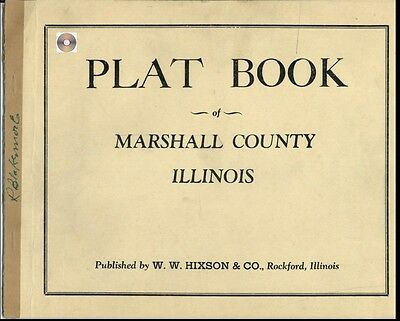 Marshall Co Illinois IL plat book genealogy Lacon   history land owners CD
