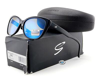 Serengeti SOPHIA 8280 Sunglasses | Shiny Black/ Polarized 555nm Blue Mirror Lens