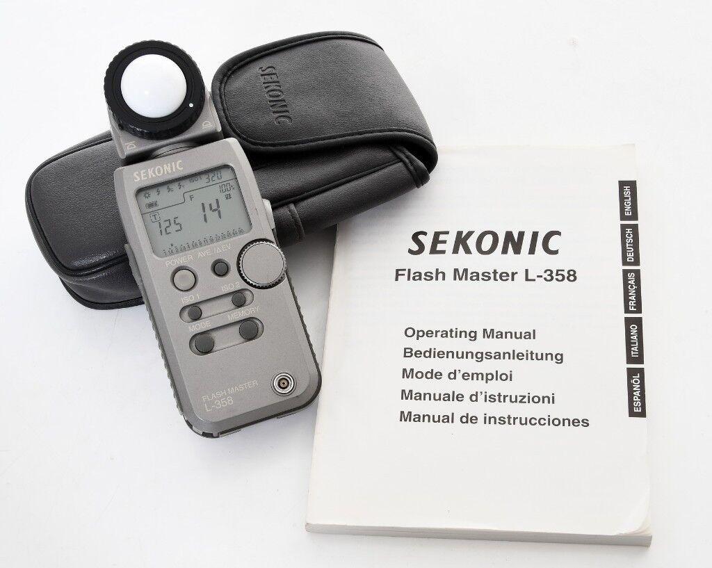 Light Meter Comparison - Sekonic L-358, L-408, L-558, Minolta Auto Meter V F, Gossen Luna Pro F