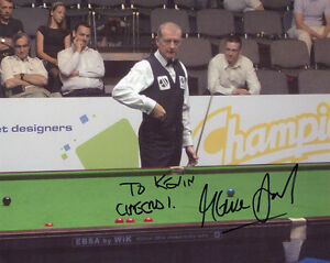 STEVE-DAVIS-signed-10x8-photo-SNOOKER-World-Champion-COA